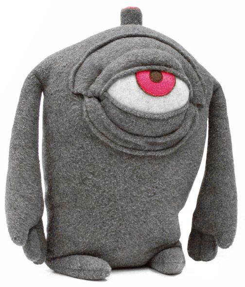 3-d monster stuffie