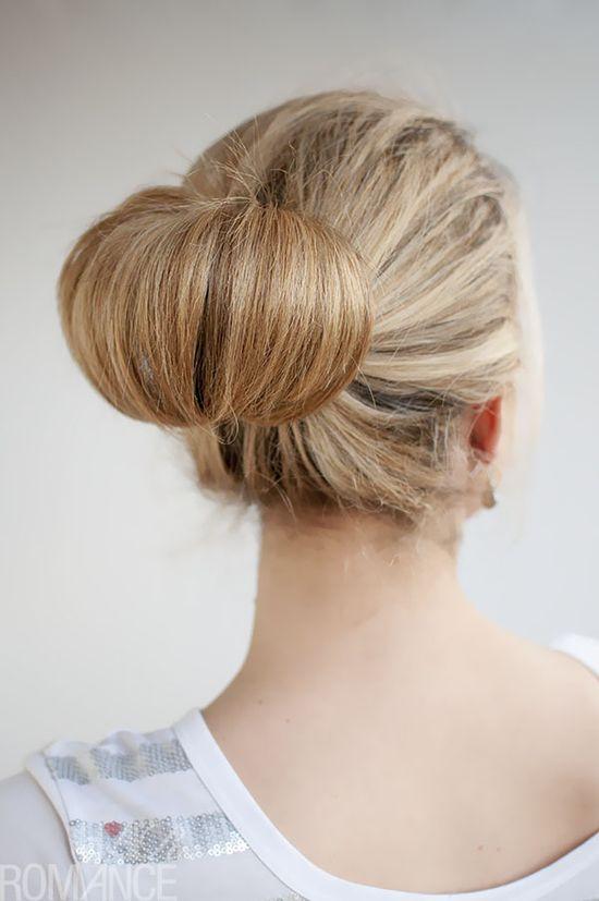 Hair Romance - 30 Buns in 30 Days - 1 - Flip Bun Hairstyle