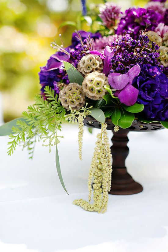 purple flower arrangements