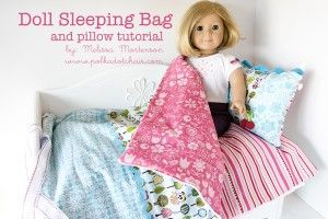 American Girl Doll Sleeping Bag tutorial on the Polka Dot Chair