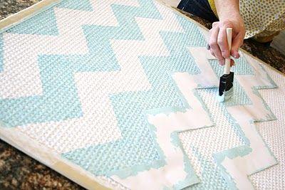 DIY Chevron painted rug