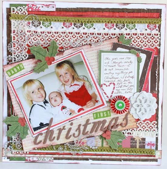 Baby's first Christmas - Scrapbook.com