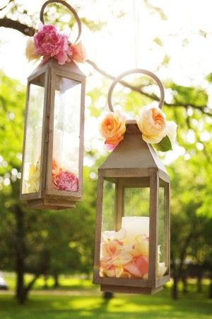 Lovely lanterns above tablescape