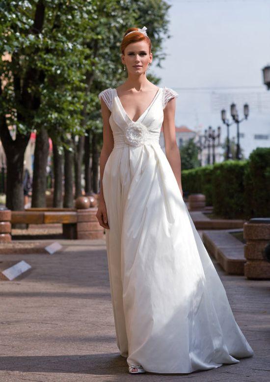 some how i like this...taffeta wedding dress by EdelweissBride, etsy.com