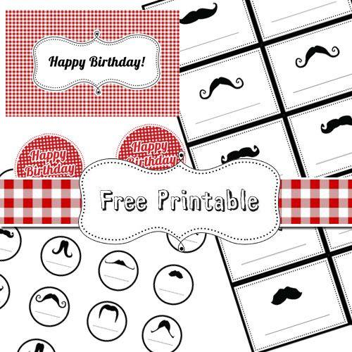 Picnic style birthday. The mustache :{