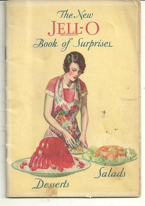 COLLECTIBLE JELLO Vintage Recipe CookBook 1930 New Jello Book of Surprises. $14,00, via Etsy.