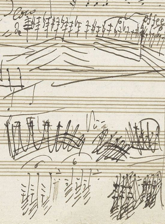 musical notation by Ludwig van Beethoven (II)