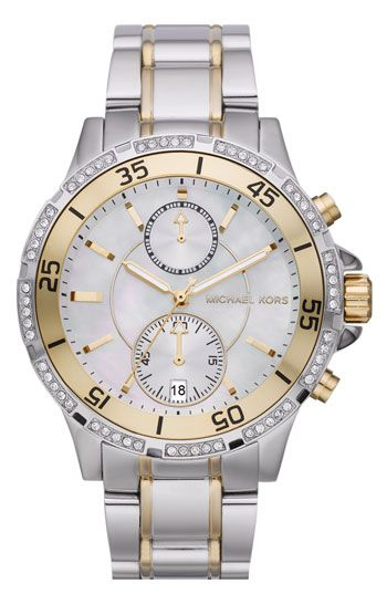 Michael Kors 'Garret' Chronograph & Crystal Watch available at Nordstrom