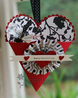 ? this Valentines Heart using the Stampin' Up! Petal Cone punch by Jo Dumbleton