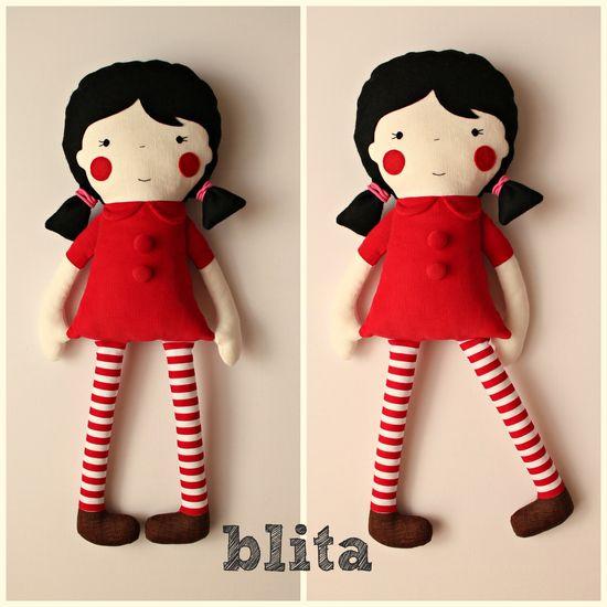 handmade doll by blita