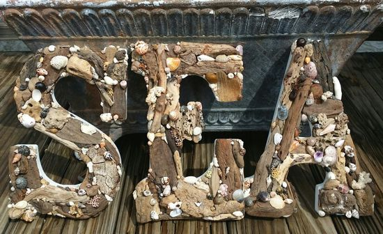 Express yourself!  Driftwood & Seashell Letters