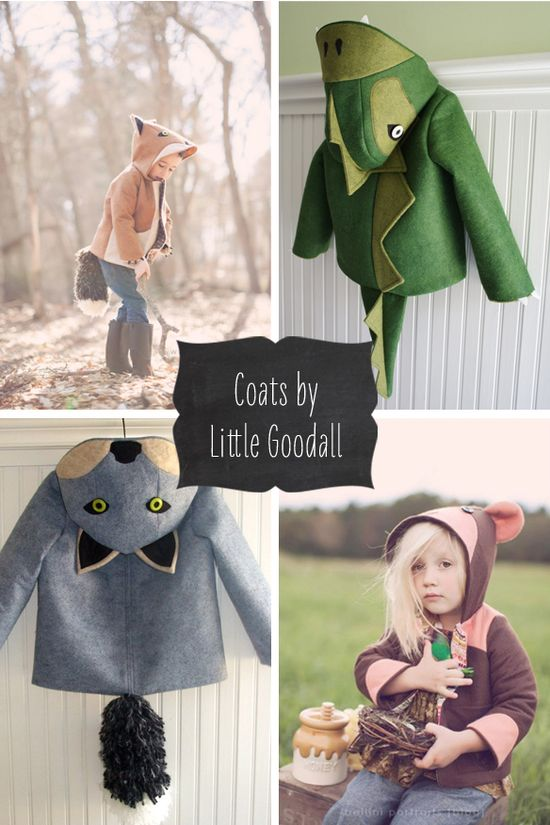 Animal Coats by Little Goodall...WANT WANT WANT!