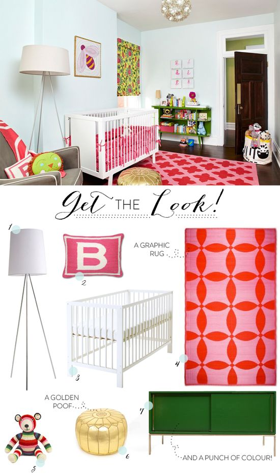 Cheree Berry's adorable nursery for her baby girl! Plus a get the look feature on SMP at Home!     Interior Design By / amiecorley.com/, Photography By / agieseking.com/