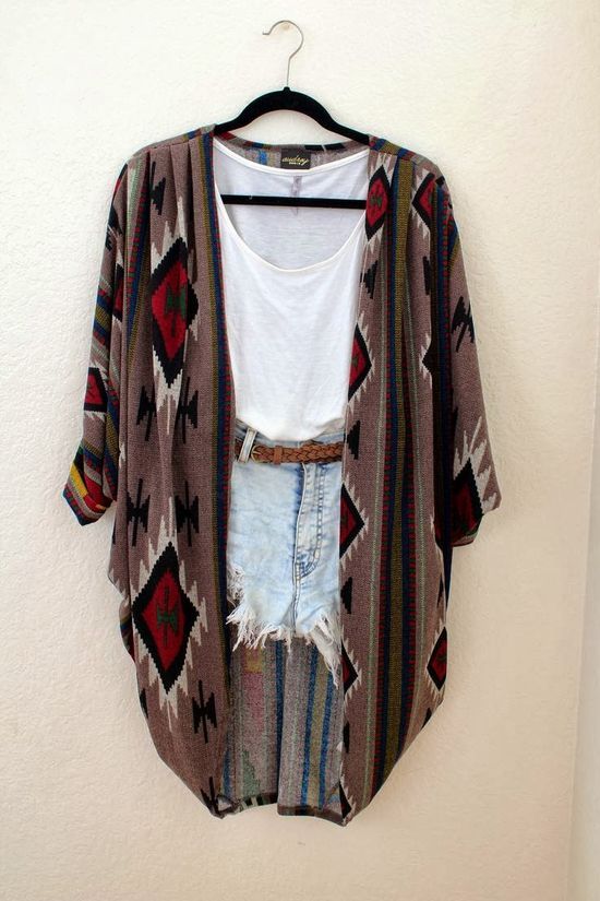 Fall Outfit With Shorts and Cardigan
