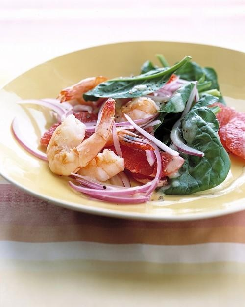 Shrimp and Grapefruit Spinach Salad Recipe