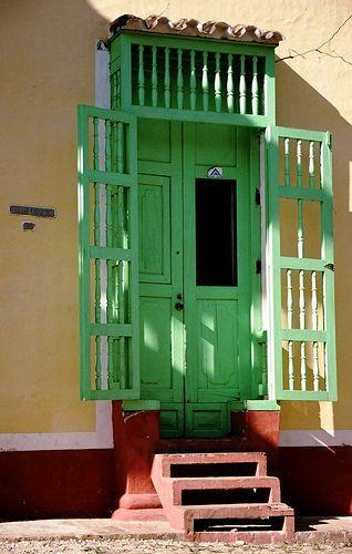 green door in Cuba