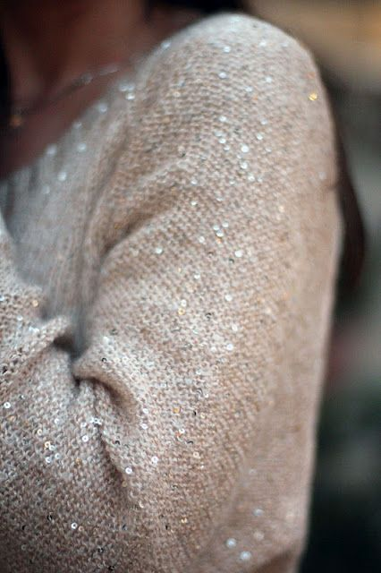 sparkly sweater
