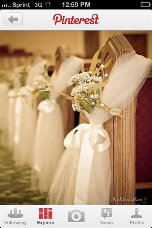 Church PEW decor?! Any good ideas? :  wedding Image