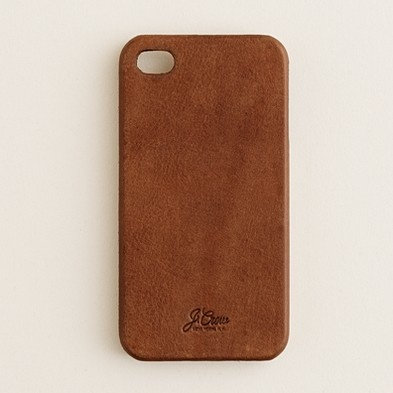 J.Crew: Leather iPhone 4 case