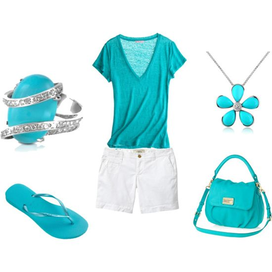 Turquoise outfit, created by susco3