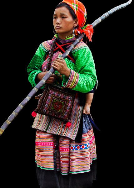 Hill Tribe Lady - Bac Ha, Vietnam