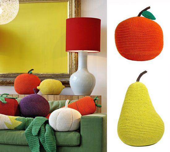 Giant Crochet Fruit & Veggies
