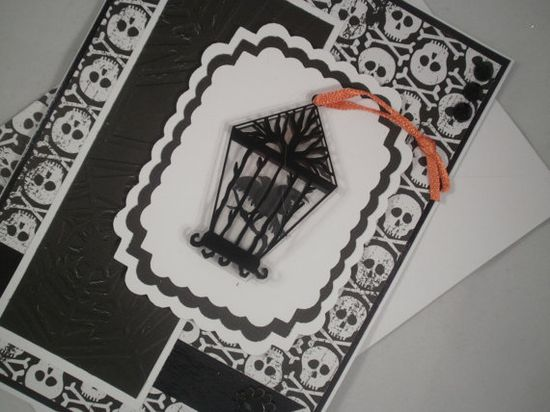 Blackbird - Handmade Halloween Card with Embellished Envelope