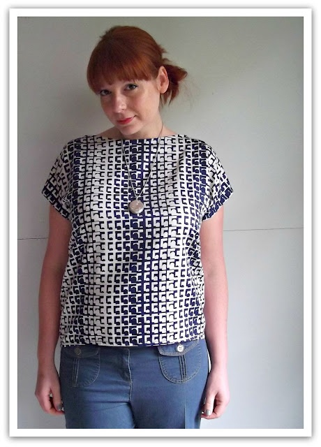 Geometric Self Drafted Top, with link to her tutorial.