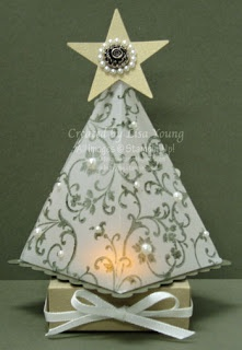 Add Ink and Stamp: Tutorial for Christmas Tree Luminaire