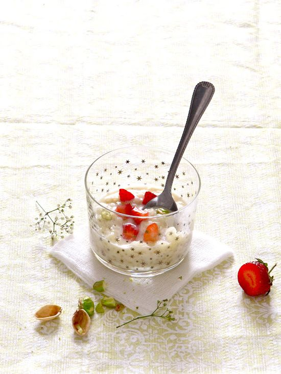 Strawberry Rice Pudding