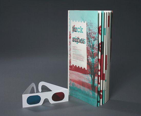 ISTD - The Waitress. 3D booklet. #design #3D