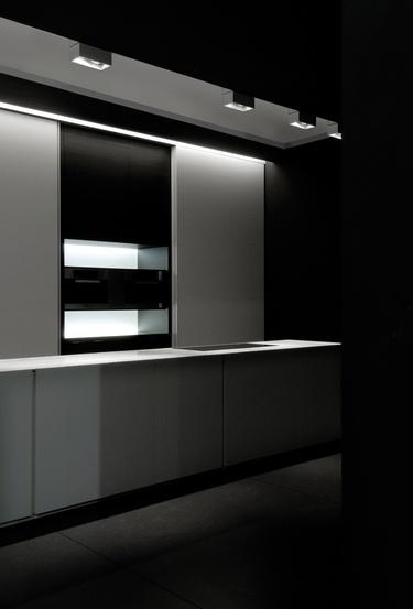 Minimalist and sleek kitchen interior _