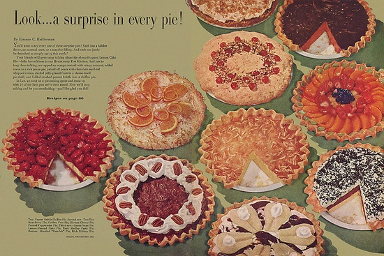 There's a surprise in every pie!  From Household Magazine 1957