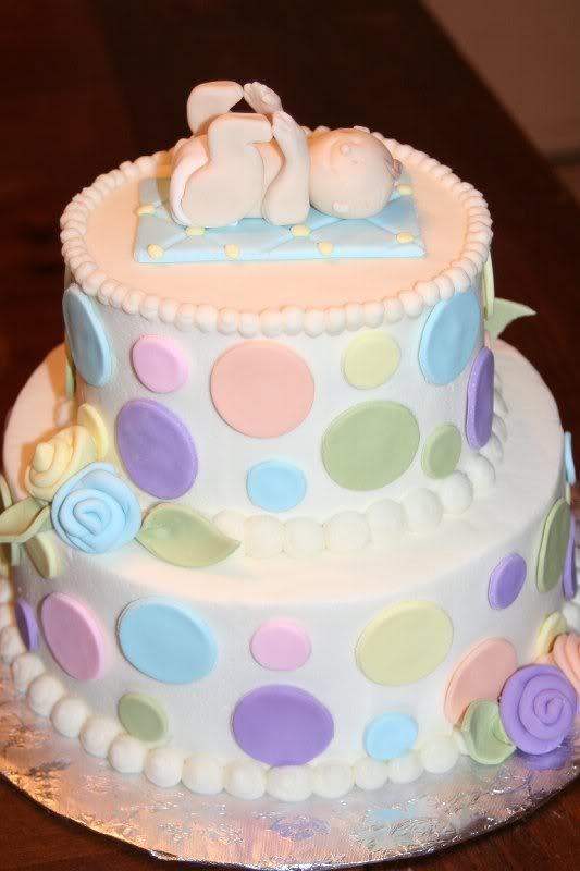 toe touching baby cake