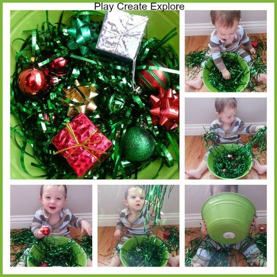 Play Create Explore: Christmas Sensory Bin for Babies
