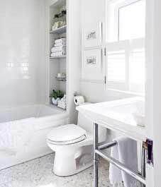 Bathroom decor: All-white bathroom makeover