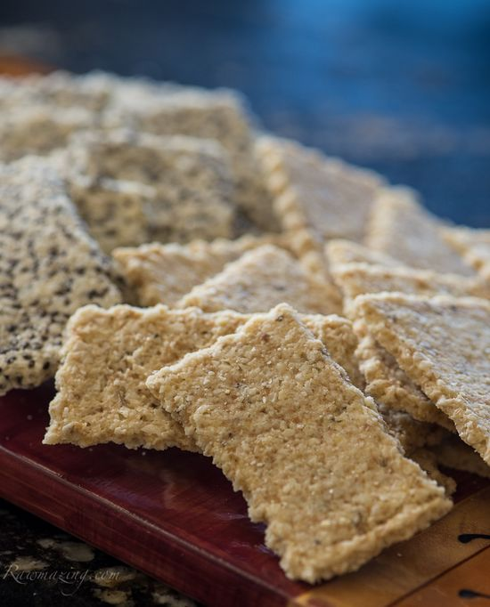 Rosemary Almond Crackers @Susan Caron Powers.com