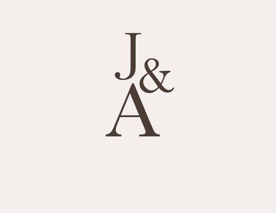 simple wedding monograms on etsy
