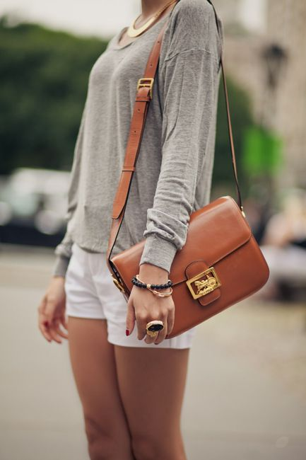 Love this bag and statement jewelry