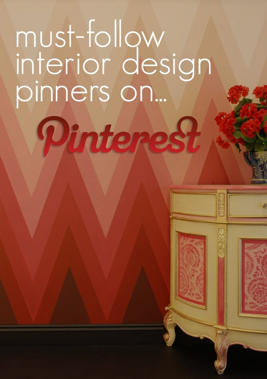 Yup...in the top 5!  Must-Follow Interior Design Pinners On Pinterest - The Directory ?  CARLAASTON.com/...