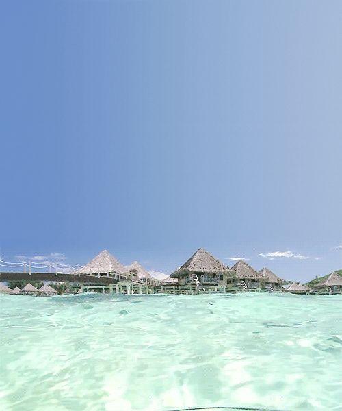 Life is a beach ~ Bora Bora Four Seasons resort