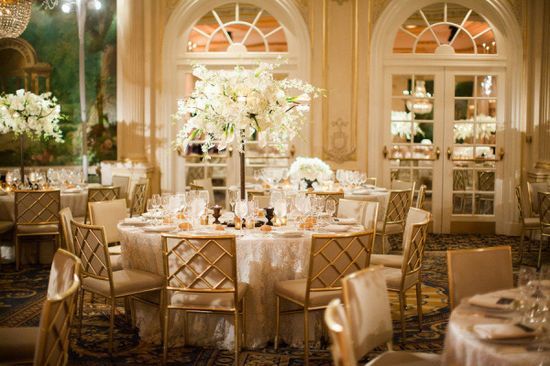 Gorgeous wedding reception tables
