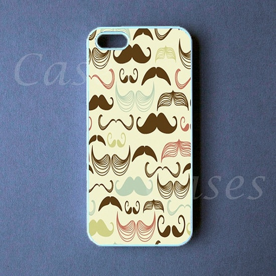 Iphone 5 Case  Mustaches Iphone 5 Cover by DzinerCase on Etsy, $16.99