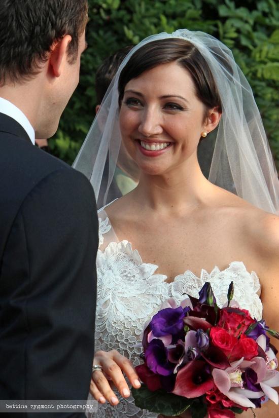 This look between bride and groom is just precious!