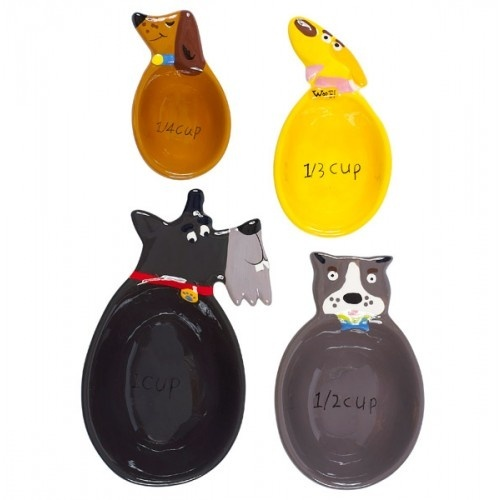 Adorable pet measuring cups!  I can think of a few people who would love these!
