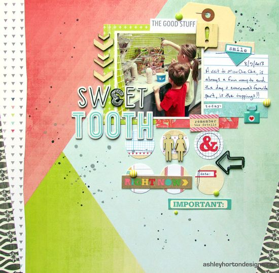 #papercraft #scrapbook #layout Sweet Tooth - Scrapbook.com