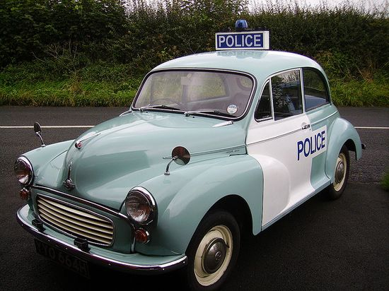 This 1967 Morris Minor 1000 is the oldest British police car in active service (or at least it was when this photo was taken in 2008).
