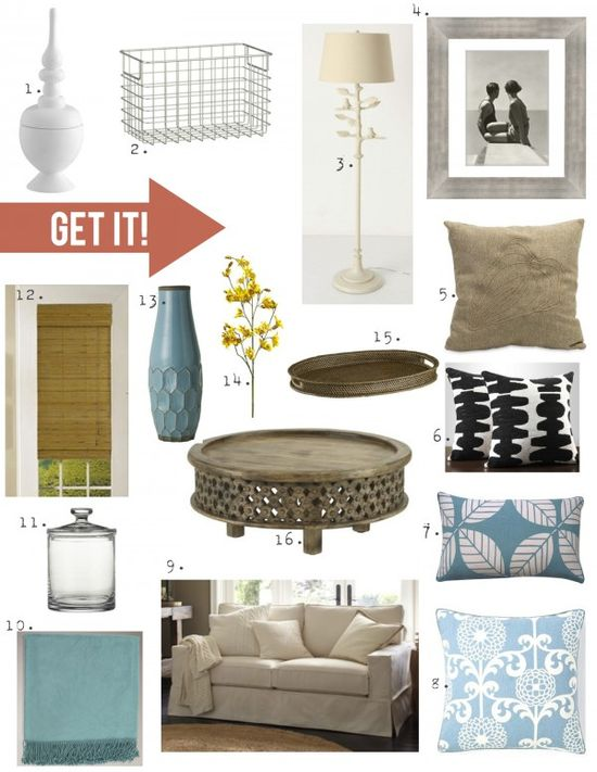 Get this living room beach-inspired look direct from the pages of Better Homes and Gardens!