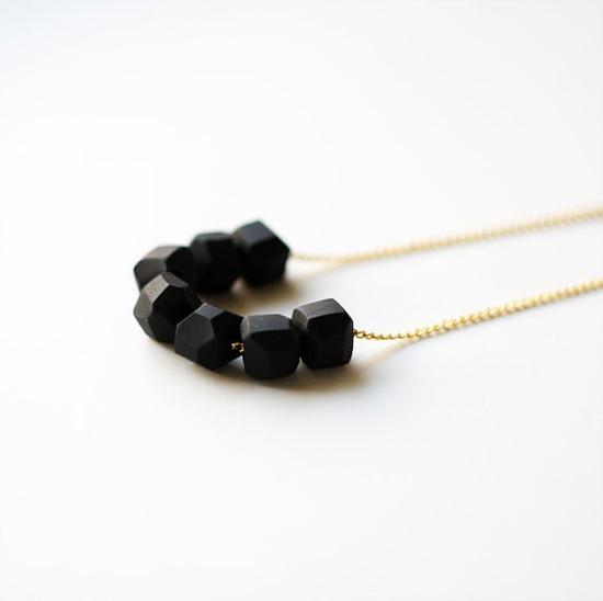 geo beaded necklace