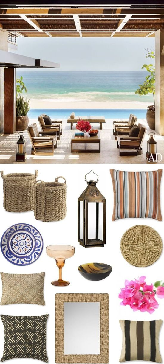CHIC COASTAL LIVING: Cabo Beach House: Get The Look